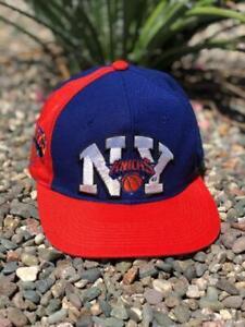 Rare VTG 90s Sports Specialties New York Knicks WOOL NBA Snapback Hat Cap