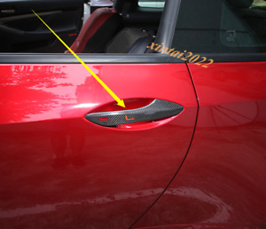 Real Carbon Fiber Outer Door Handle Cover Trim For Lexus RC200 300 350 2016-2019