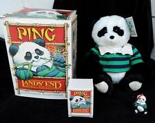 Ping Lands End & Gund Rugby Bear and Christmas Ornament in Box