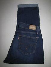 """Womens Levi's Stretch Cuffed Jean Capris/Crop. Size 16 Blue. 24"""" Inseam."""