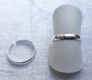 Adjustable Sterling Silver Plain Toe/Pinky/Finger Ring 925 - 170A1