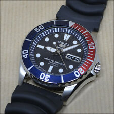 "Seiko 5 Sports Automatic SNZF15J2 Rubber strap *MADE IN JAPAN*  ""Pepsi bezel"""