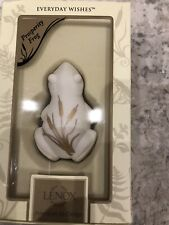 Lenox Frog Prosperity Everyday Wishes Creamy Porcelain Gold Accent Mib