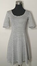 Asos Dress Women's Striped Skater Black White Stretch Party Fit And Flare Sz 0