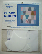 Spool Tumbler Clamshell plastic templates for quilt quilting