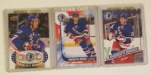New York Rangers Rookie Upper Deck Hayes/Lindberg/Vesey 3 NHL hockey card lot