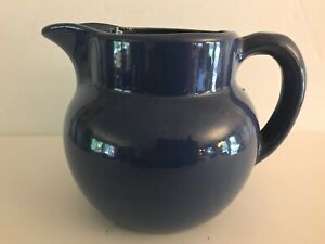 Bybee Pottery Large Blue Ball Pitcher