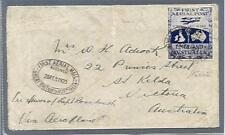 1919 First Aerial Mail UK to Australia Cover with Ross Smi