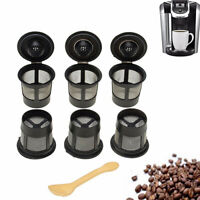AG_ 6Pcs Refillable Reusable Coffee Capsule Cup For Keurig K-Cup Filter Pod