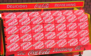 10 RED COCA-COLA  CASES 1:24 (G) SCALE DIORAMA  For MODELING!