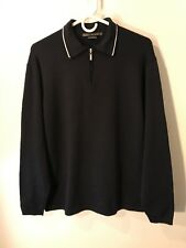 Nike Tiger Woods 1/4 Zip Black Pullover Polo Golf Sweater Men's Medium M