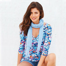 Adini Robin Tunic in Blue with white, pink and orange flower print (WAS £46.99)