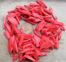 20g Pkt Red Colour Wood Chippings Dolls House Miniature Garden Bark Accessory