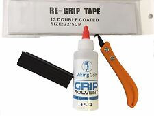 Golf Grip Full Set Replacement Kit Removal Tool  Shaft Clamp  Grip Solvent Tape