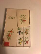 vintage bridge game score cards flower designs