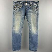 HYSTERIC GLAMOUR Size 34 Indigo Wash Selvedge Denim Zip Fly Jeans