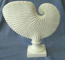 "Margaret Furlong Paper Nautilus Seashell White Pedestal Vase, 7.5"" 1999, Signed"