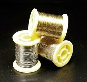 Veniard Oval Tinsel Fly Tying Material - GOLD/SILVER