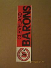 Nhl Cleveland Barons Vintage Defunct 1976 Team Logo Bumper Sticker