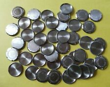 1960's Stainless Steel Wrist Watch Case Backs 40 pcs Lot# A29