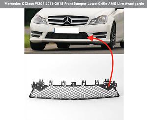 Mercedes C Class W204 2011-2015 Front Bumper Lower Grille AMG Line Avantgarde