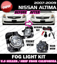 For 07 08 09 NISSAN ALTIMA Fog Lights Driving Lamp Kit w/ switch wiring (CLEAR)