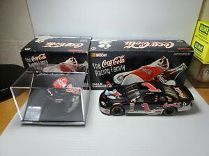 1998 Dale Earnhardt Jr #1 Coke Polar Bear Car & Helmet NASCAR Chevy Action MIB