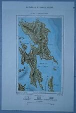 1889 Perron map SAMAR AND LEYTE, VISAYAS, PHILIPPINES (#114)