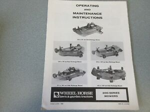 7 Old Wheel Horse Rotary Mower Manuals (all different)