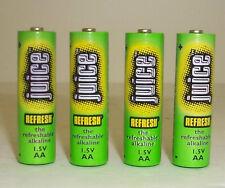 24 Juice Brand Rechargeable AA Alkaline Batteries