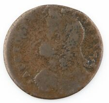 1786 Connecticut Draped Bust Left, Penny, Brown Color, Good Condition Colonial