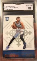 Karl Anthony Towns rookie Card 2015 Gem Mint 10 Excalibur All Star Timberwolves