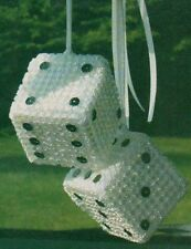 LUCKY DICE CAR PLASTIC CANVAS PATTERN INSTRUCTIONS