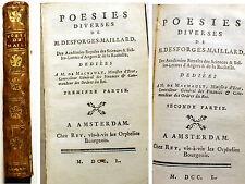 POESIE/DESFORGES-MAILLARD/ED A AMSTERDAM/1750/VOLTAIRE/EX LIBRIS/INTROUVABLE!!!