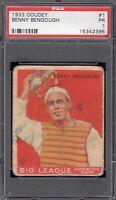 1933 Goudey #1    Benny Bengough    Browns     PSA 1 !!!!
