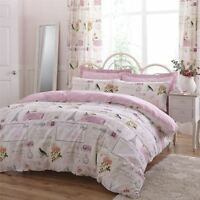 PARISIENNE PATCHWORK PINK CREAM 144 TC COTTON BLEND SUPER KING DUVET COVER