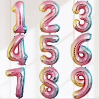 Gradient Color 32inch 0-9 Number Balloons Foil Balloon Birthday Party Decorate