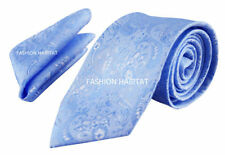 Cravatta da uomo blu in misto seta