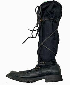 Hunter Summit Weather Proof Boots Size 9 Black Nylon Leather