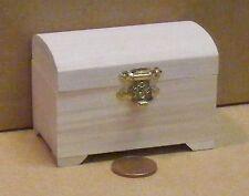 1:12 Maßstab Natürliche Ausführung Holz Truhe Koffer Tumdee Puppenhaus Miniatur