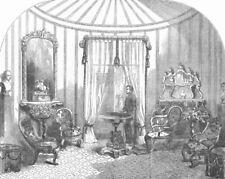 IRELAND. Queen's visit to the Dublin Exhibition, antique print, 1853