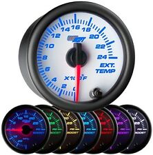 52mm GlowShift White 7 Color 2400 F Exhaust Gas Temperature Gauge - GS-W708