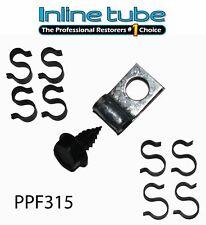 65 Pontiac Full Size 5/16 w/ Ret Fuel Line tube Clips clamp bracket Set PPF315