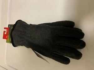 New Tek Gear Microfleece Gloves in Size Small/Medium 3M Insulated Dk. Grey