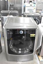 """Lg Dlgx9001V 29"""" Graphite Steel Front Load Natural Gas Dryer Nob #111587"""