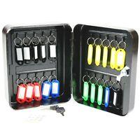 Key Safe Cabinet Holder Box Storage Cupboard for Wall Lockable 20 Hooks