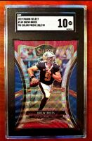2019 Select Premier Level Tri Color Prizm /199 Drew Brees #149 SGC 10 Gem Mint