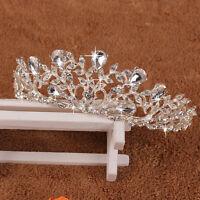 Bridal Princess Crystal Rhinestone Tiara Wedding Prom Crown Comb Veil Headband