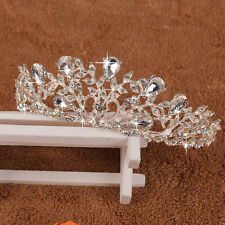 Bridal Princess Crystal Rhinestone Tiara Wedding Prom Crown Comb Veil Headband