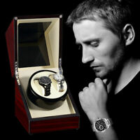 Luxury Double Automatic Watch Winder Box Display Wood  Organizer Case Double RS1